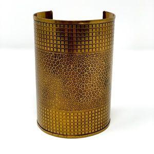 Oversized Gold Metal Cuff
